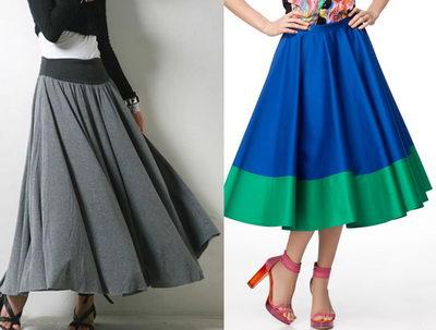 Как скрыть недостатки фигуры с помощью юбки-клеш?