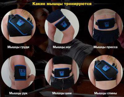 Пояс для тренировки мышц пресса  и спины Ad Gymnic